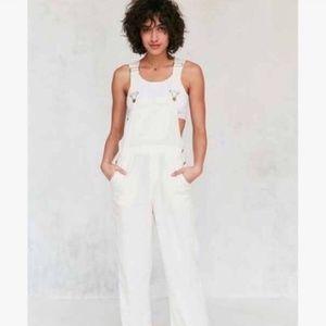 White Linen blend Overalls